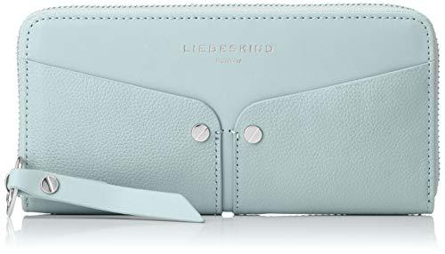 Blaue Nieten-handtasche (Liebeskind Berlin Damen Duo Sally Wallet Large Geldbörse, Blau (Light Blue Mist), 2x10x19 cm)