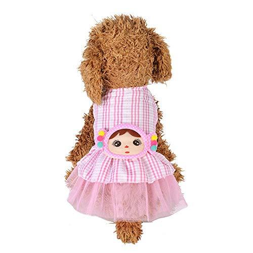 Kleine Hund Mädchen Kleid, Pet Welpen Katze Weste Rock Haustier Hund süße Blume Print Kleid Kleidung & Pet Spitze atmungsaktive Prinzessin Kleidung Rock für kleine bis mittlere Hunde