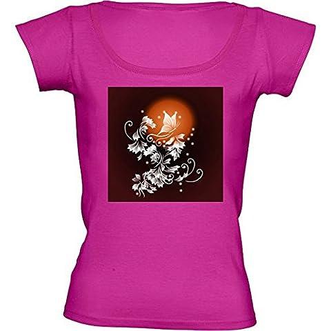 Camiseta Cuello Redondo para Mujer - Luna De Sangre Fantasía by Nina Baydur