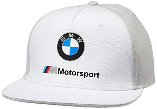 BMW MOTORSPORT Herren Flatbrim White Baseball Cap, Weiß (Herstellergröße: One Size)