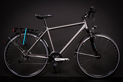"28\"" Zoll Alu MIFA Herren Trekking Fahrrad Shimano Deore 24 Gang Nabendynamo grau"