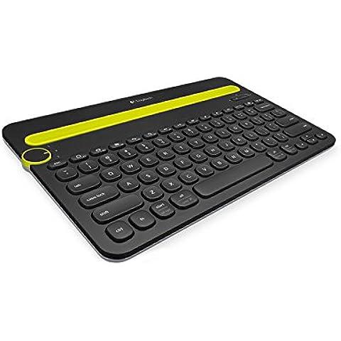 Logitech K480 - Teclado inalámbrico (Bluetooth, QWERTZ Alemán), negro