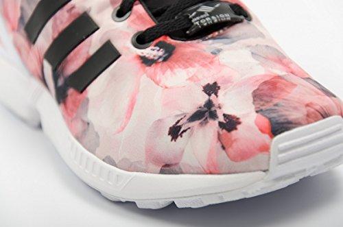 vente discount 45208 9dbfc Zx Hibiscus Adidas Fleur Motif Basket Flux Rose Enfant zSUMpV