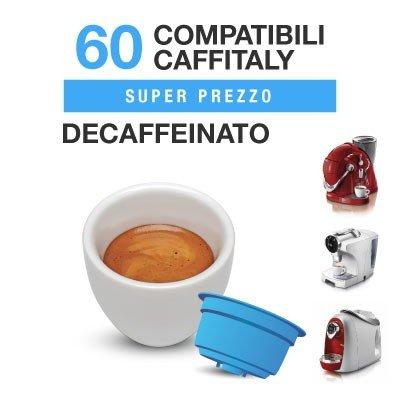 CAFFITALY 60 capsule caffè compatibili miscela DECAFFEINATO Italian coffee