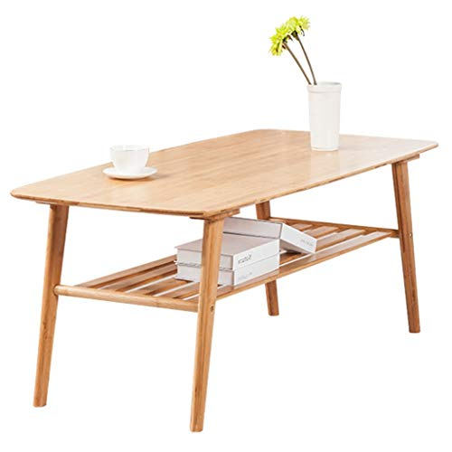 GYM Tisch Bambus Einfacher Couchtisch Niedriger Tisch Laptop Tisch Nordischen Stil Wohnzimmer Rechteckigen Tee Tisch Braun Versammlung (Color : Brown, Size : 100 * 50 * 40cm) -