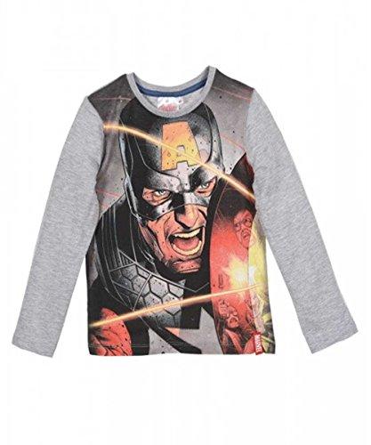 erica Ironman Hulk Jungen Kostüm-Druck-T-Shirt Top Alter von 4 bis 10 Jahre (Grau Iron Man Kostüm)