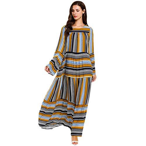 TEBAISE Muslimische Kostüm 2019 Sale Angebote Sommerkleid Damen Prinzessin Lange Ärmel Kleid Stickerei Islamisch Rock Muslim Kleidung Elegant Robe Arabischen Osten Nationaltracht Abaya Kaftan Ramadan (Neue Green Lantern Kostüm Tshirt)
