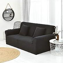 WJX&Likerr Funda de sofá elástica Cubierta Completa,Sofá Antideslizante combinación Color sólido sofá Cubierta de