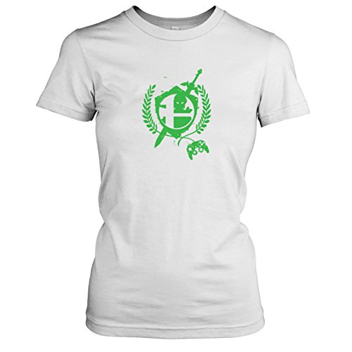 TEXLAB - Hero Link - Damen T-Shirt, Größe XL, weiß (Legend Of Zelda Triforce Helden Kostüme)