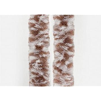 Flauschvorhang braun//beige Türvorhang Insektenschutz Vorhang Hitzeschutz