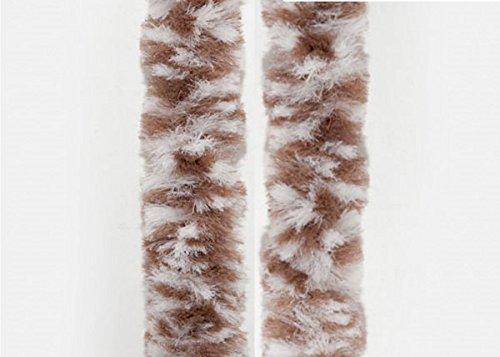 Flauschvorhang Braun/Weiß 56x185cm Türvorhang Chenille Fliegenschutz Camping Insektenschutz 100% Made in Italy MIX