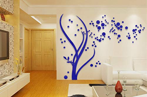QXTIE Personalisierte dreidimensionale Wandaufkleber Acryl Kombination Sofa im Wohnzimmer Schlafzimmer TV dreidimensionalen Kristall dekorativen Wandaufkleber, l -