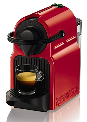 Krups Nespresso Inissia Rouge YY1531FD Independiente Máquina de café en cápsulas 0.7L Negro, Rojo - Cafetera (Independiente, Máquina de café en cápsulas, 0,7 L, Cápsula de café, 1200 W, Negro, Rojo)