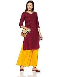 Indigo Women's Straight Fit Cotton Kurta