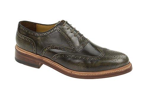 Gordon & Bros Herrenschuhe Levet 2506 Klassischer rahmengenähter Schnürhalbschuh mit Oxford Schnürung im Brogue Stil für Anzug, Business und Freizeit grau (Grey), EU 44