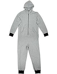 hommes GOLF fermeture éclair pull à capuche pyjama tout en un combinaison gris à capuche barboteuse pyjama Tailles M L XL