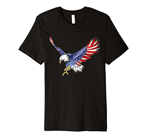 Flagge USA Bald Eagle T-Shirt Amerikanische Flagge 4. Juli Shirt - Eagle Damen Rosa T-shirt