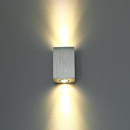 LED Wandleuchte innen Wandlampe Flurlampe Treppenleuchten Deckenleuchte up down effekt 6W (Warmweiß)