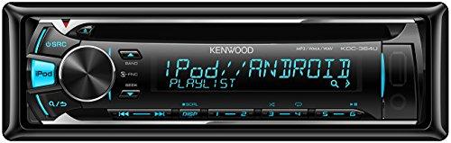 Kenwood KDC-364U USB/CD-Receiver mit Apple iPod-Steuerung, variabler Tastenbeleuchtung schwarz (Audio Auto Kenwood Usb)