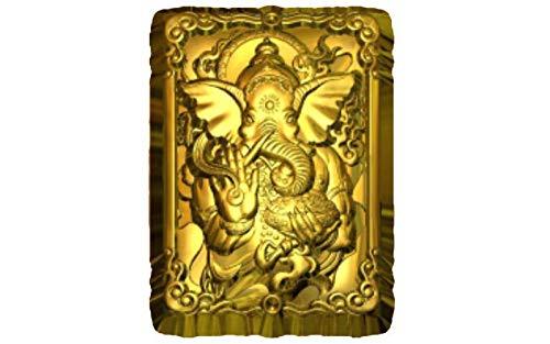 1pc Ganesh Elefant Spirit Yoga Kunststoff-herstellen von Seife Wachs Schokolade Gips-Käse-Cookies, Gelatin Mold Casting-Nahrungsmittelgrad-Form 92x66x25mm 66 Chocolate Mold