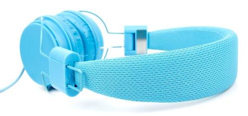 Blauer Kinder-Kopfhörer von DURAGADGET - größeneinstellbar, leicht zu verstauen und mit integriertem Mikrofon - für Samsung Galaxy Tab 3 Kids und Hello Kitty HEU004D Tablet
