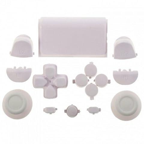 PS4 Playstation 4 Controller Button Modding Set Buttons Thumbsticks D-Pad Knöpfe (weiss) (JDM-001,011,020,021)