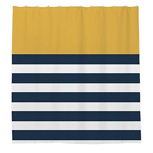 Angelly Kobalt Blau Streifen Vorhang für die Dusche 167,6x 182,9cm - Kobalt-blauer Streifen