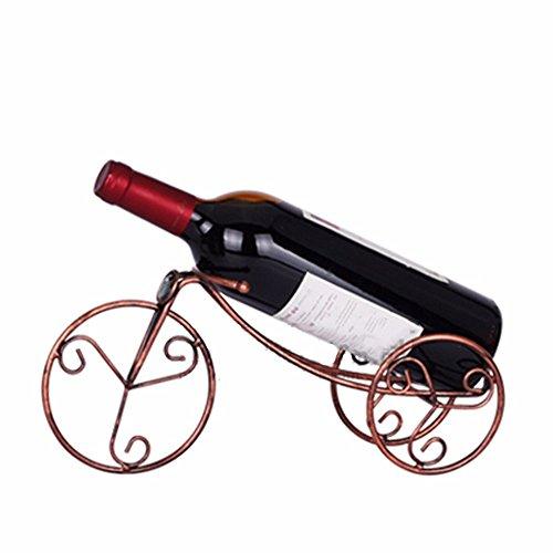 xzlxty Wine Rack Dreirad eine einzelne Flasche Schmiedeeisen Weinregal Creative Home Geschenke (Rack Flasche Einzelne)