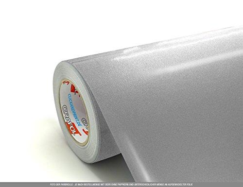 CLICKANDPRINT  3m Klebefolie, 50cm breit, Silbergrau Metallic » Klebefolie/Stickerfolie/Selbstklebefolie