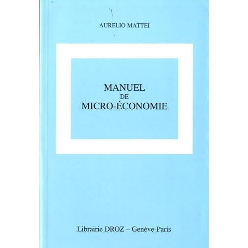Manuel de micro-économie