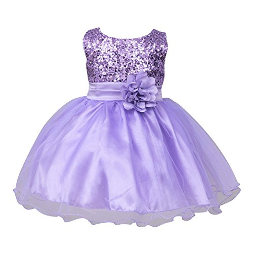 Baby Mädchen Kleider, Purple, 6-12 Monate (12-monats-halloween-kleid)