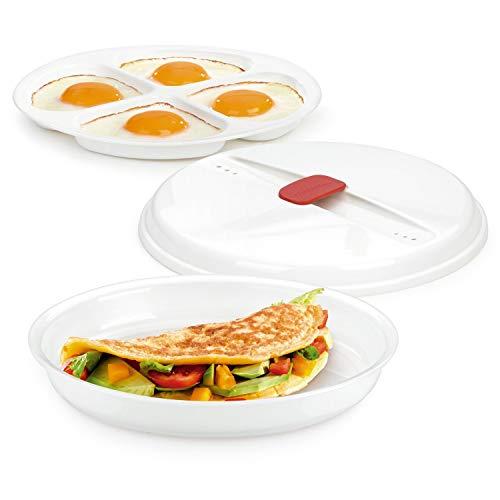 Tescoma Mikrowelle Gericht für Reinheit Omeletts und Eier, Sortiert Microwave Egg Poacher