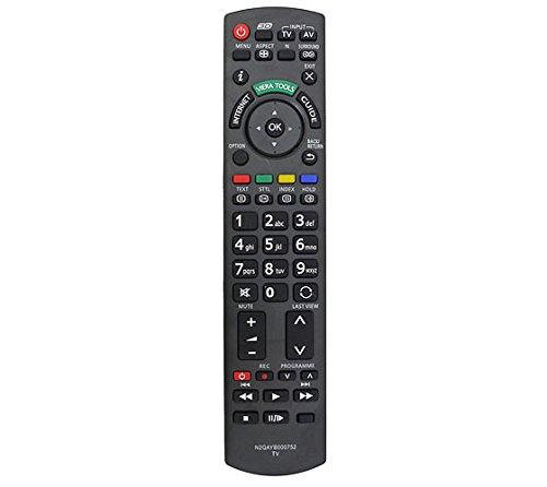 121AV Ersatz Fernbedienung N2QAYB000752 Fit für Panasonic LED-LCD-3D-oder Plasma-Fernseher Modell-Nr. RM-D1170 Viera Plasma-tv