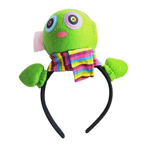Amosfun Plüsch Stirnband für Mädchen Tag der Toten Kopfbedeckung Ghost Hair Hoop Performance Requisiten Haarband für Kind Kind Mädchen (Toten-stirnband Tag Der)