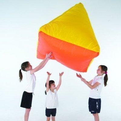 KIDS OUTDOOR PLAY AREA TOY GIANT COLOURFUL AIR FILLED FLOATING PYRAMID SHAPE BY OSG