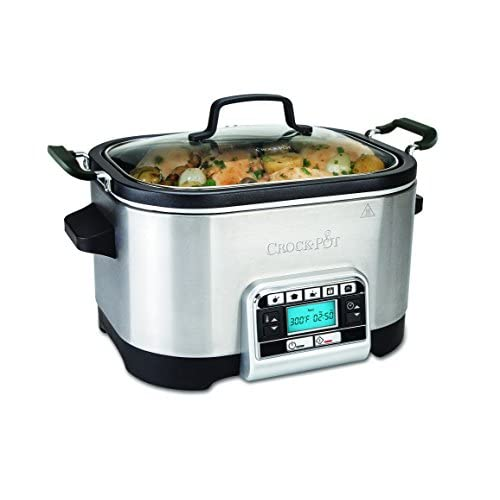 41v6yXd%2Bl8L. SS500  - Crock-Pot Multi-Cooker, Programmable with Slow Cooker, Saute, Roaster and Food Steamer, 5.6 Litre (6-7 People), Removable Bowl [CSC024]