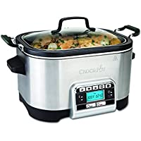 Crock-Pot CSC024X - Das Original aus den USA | Digitaler Schongarer & Multikocher | 5,6 L | Digitale Anzeige | programmierbarer Timer | Warmhaltefunktion | programmierbare Temperatureinstellungen
