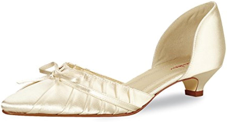 BRAUTSCHUHE Elsa Coloured shoes Alice ivory Hochzeitsschuhe Flach Alice Satin Gr. Eu. 375 Uk 45