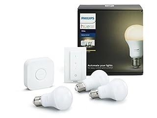 Philips Hue Kit de Démarrage Blanc avec 3XE27 9W [Pont et Télécommande avec Variateur Inclus] - Fonctionne avec Alexa (B0748MZ3Y5) | Amazon Products