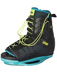 Jobe Hombre de doble cordones fijaciones de esquí acuático, color negro, tamaño Size 7.5/11