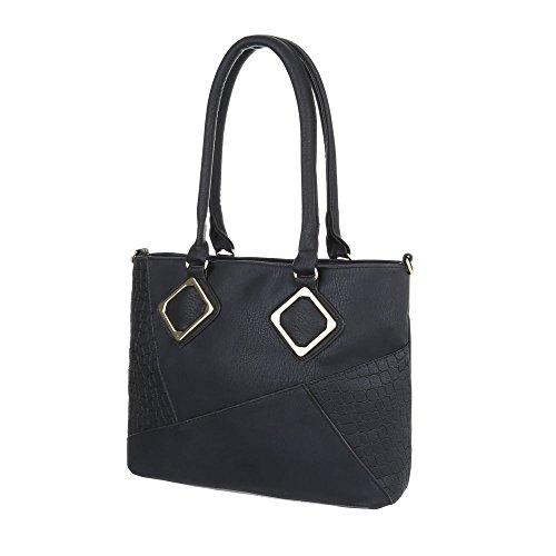 Taschen Used Optik Mit Extra Tasche Schwarz
