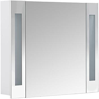 Spiegelschrank holz weiß  Galdem START80 Spiegelschrank, holz, 80 x 70 x 15 cm, weiß: Amazon ...