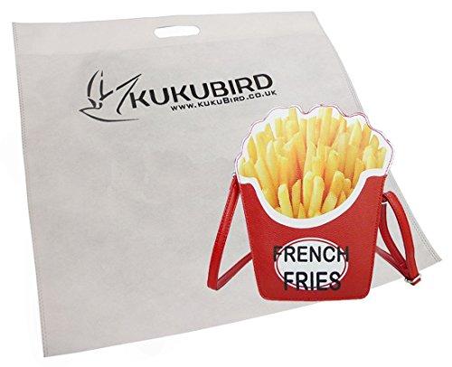 Kukubird Grace Pommes-frites-Neuheit Crossbody-Bag Mit Kukubird Staubbeutel Black