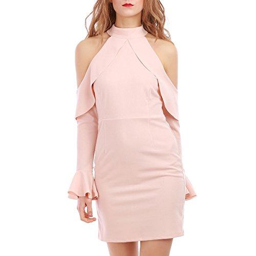 La Modeuse - Robe robe courte à épaules dénudées Rose