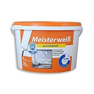Meisterweiß Wand & Decken Farbe Weiß Matt 5 liter