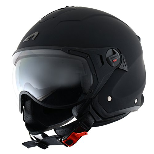 Astone Helmets Casco Jet Sport Mini, color Negro Mate, talla L