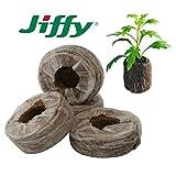 Jiffy-7 100 Stück 33x40 mm Original Quell-Tabletten Torf-Quelltöpfe Aussaaterde