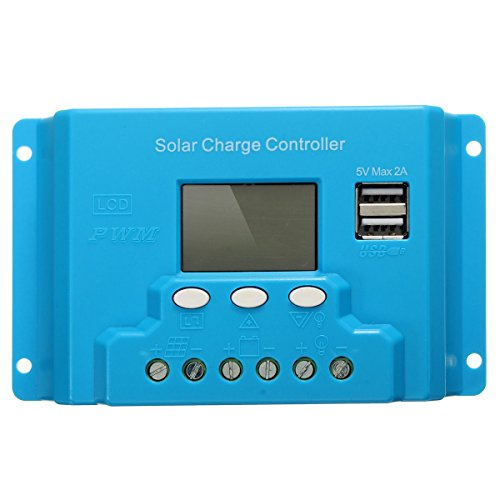 MYAMIA 10A 20A 30A LCD PWM Solar Panel Ladegerät Battery Regulator 12V/24V mit Dual USB-20A 24v-20a Ladegerät