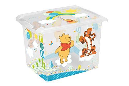 Preisvergleich Produktbild keeeper Winnie Aufbewahrungsbox mit Deckel, 39 x 29 x 27 cm, 20,5 l, Filip, Transparent