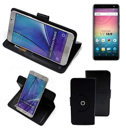 K-S-Trade® Hülle Schutzhülle Case Für -Allview V3 Viper- Handyhülle Flipcase Smartphone Cover Handy Schutz Tasche Bookstyle Walletcase Schwarz (1x)